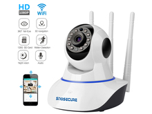 SNOSUCURE HD 1080P 2MP Home Security IP Camera Wifi Exterior Surveillance Camera Night Vision CCTV Camera Two Way Audio Camera