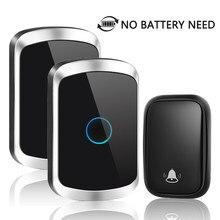 НОВЫЙ автономным питанием Водонепроницаемый Беспроводной дверной звонок без Батарея нужно стандарта ЕС, США, Великобритании Plug дверной зв...