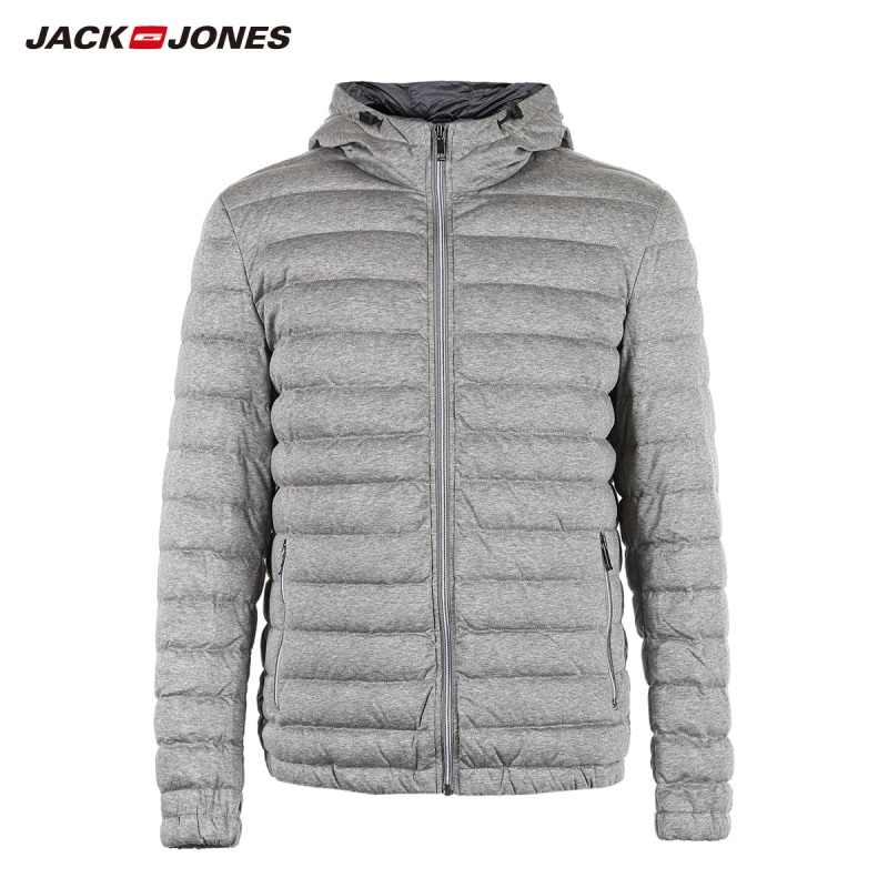 JackJones Men's Hooded Short Down Jacket Parka Coat Outerwear Menswear 218312501