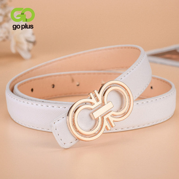 GOPLUS Double Round Belts for Women Female Luxury Brand Designer High Quality Thin Waistband Waist Strap Jeans Dress Girls