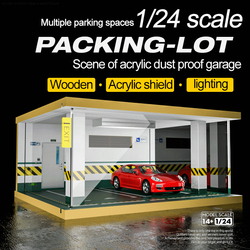 1/24 Collection Cars,car Parking,car Garage,wood Display Cabinet,model Car Display Box,prefabricated Car Model Cabinet