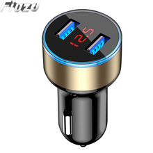 ED Display USB Car Charger For iPhone 11 pro maxX XS XR SE 5S 6S 8 7Plus fast phone charger for Xiao mi 9t 9 se lite