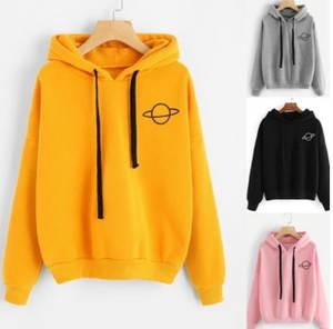 Women's sweatshirt hoodie Student loose casual printing