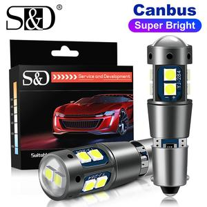2pcs Super Bright Canbus BA9S BAX9S BAY9S Led Bulbs H21W BAY9S H6W T4W T11 Car Clearance Lights Auto Parking License 12V Lamps