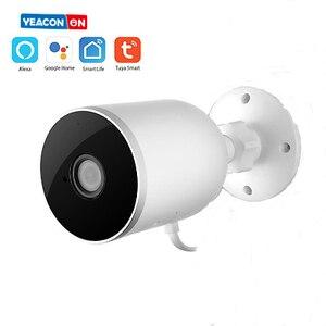 Ip-камера Tuya 1080P для домашней безопасности, уличный монитор с функцией ночного видения и защитой от дождя, Wi-Fi, беспроводная смарт-камера Google ...