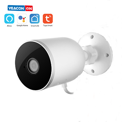 Tuya IP Camera 1080P Home Security Outdoor Night-Vision Remote Monitor Rainproof WiFi Wireless Smart Life Google Home