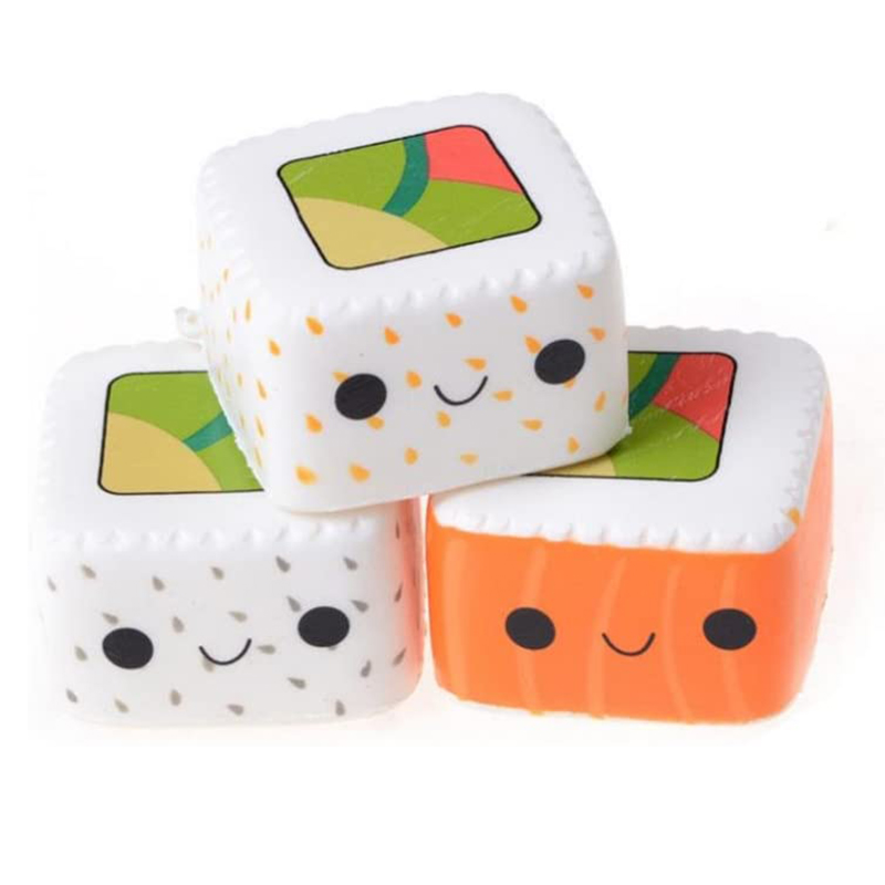 New Kawaii Square Japanese Sushi Squishy Food Simulation Slow Rising Cream Scent Soft Squeeze Toy Stress Relief Fun For Kid Gift