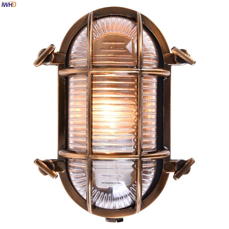 IWHD Loft Industriale Lampada Da Parete per Esterni Portico Balcone Giardino Impermeabile IP44 Luce Della Parete del LED Lampade escursione e campeggio buitenlamp esterno 1