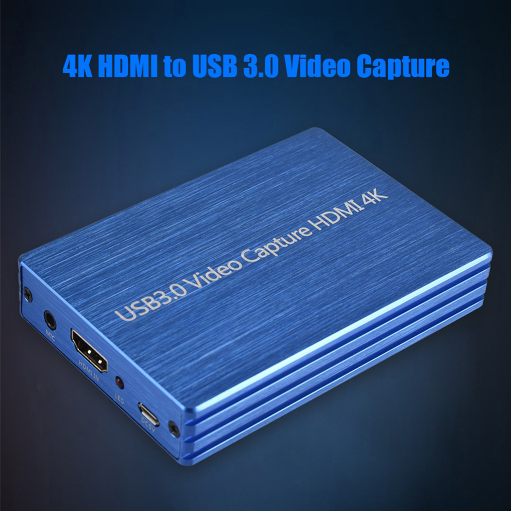 4K HD To USB 3.0 Video Capture Card Dongle 1080P HD Video Recorder Grabber For Capturing Gaming Live Streaming