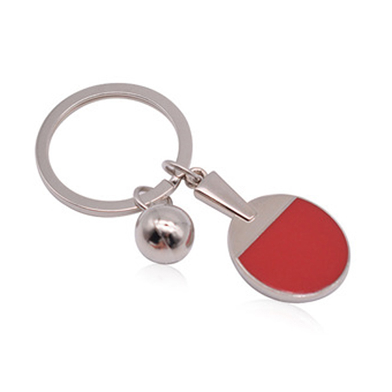 Sport Ping Pong Table Tennis Ball Badminton Keychain Key Chain Keyring Key Ring Souvenir Gift