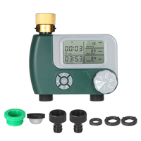 Programmable Digital Hose Faucet Timer Battery Operated Automatic Watering Sprinkler System Irrigation Controller with 2 Outlet