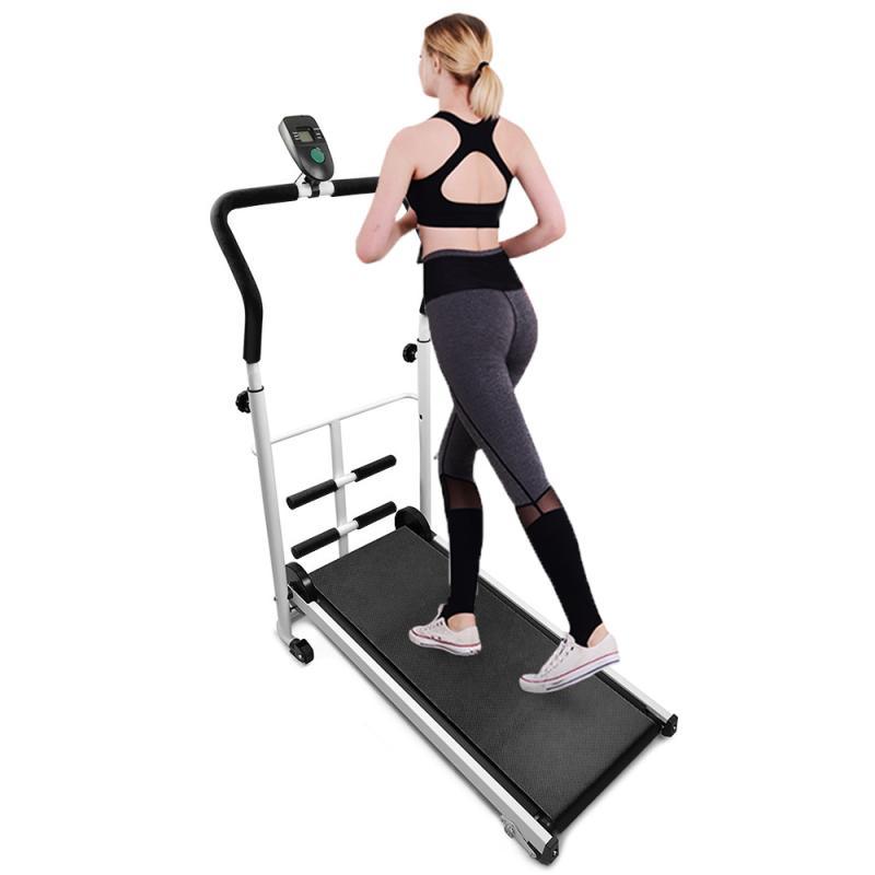 Механическая беговая дорожка с тренажерным устройством для фитнеса с дисплеем, скорость, расстояние калорий, фитнес беговая дорожка для бо