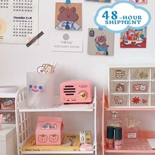Storage-Rack Desk Dormitory-Storage Folding Girl Free-Installation Double-Layer Artifact