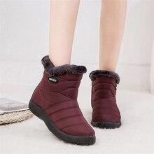 JIANBUDAN bottes de neige décontracté femmes hiver en peluche chaud grande taille coton bottes imperméable épaissir chaud pluie bottes en peluche chaussures 35 43
