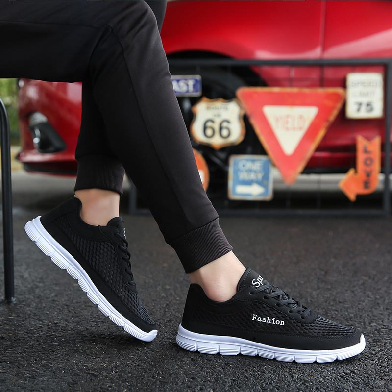 Man Shoes Summer 2019 Breathable Mesh Men Casual Sneakers Fashion Vulcanize Tenis Masculino Mens Zapatillas Hombre Plus Size 48