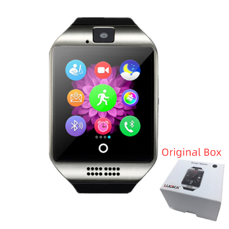 Q18 Digital Touch Smart Watch With Sim Call Bluetooth Call Square Smartwatch Fit Watch Sport Pedometer Innrech Market.com