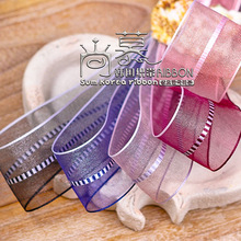 100yards 16 25 40mm middle stitched stripe organza sheer ribbon for bouquet flower gift packing bow birthday party supplies 100yards 10 16 25 40mm stitched stripes organza sheer ribbon for bouquet flower packing bow wedding party craft supplies
