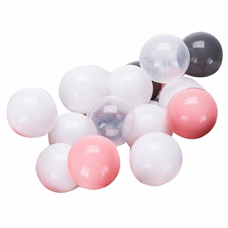 New 100Pcs Eco-Friendly Plastic Ball Soft Ocean Balls Baby Swimming Pool Pit Toy