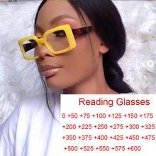 Gafas de lectura rectangulares y pequeñas para mujer, anteojos de lectura pequeños, antiluz Azul, de marca Vintage de diseñador, de Color caramelo, transparentes, cuadradas para hipermetropía 0 A + 6