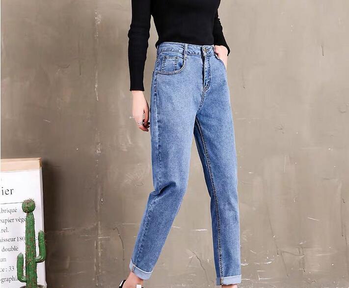 Summer 2020 Women's Jeans Large Size Loose Women's Denim Trousers JH866-01-24