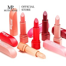 MUSIC ROSE 2019 Makeup Red Lipstick Matte Long Lasting 12 COLORS Nude Waterproof Women Korean Gift Girl