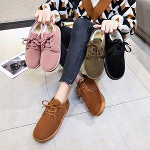 Image 5 - NKAVQI ใหม่ฤดูหนาวรองเท้าผู้หญิงแบนรองเท้าหิมะรองเท้าหนังนิ่มผู้หญิง Plush พื้นรองเท้า Botas Mujer ขนสัตว์รองเท้าสบายๆ