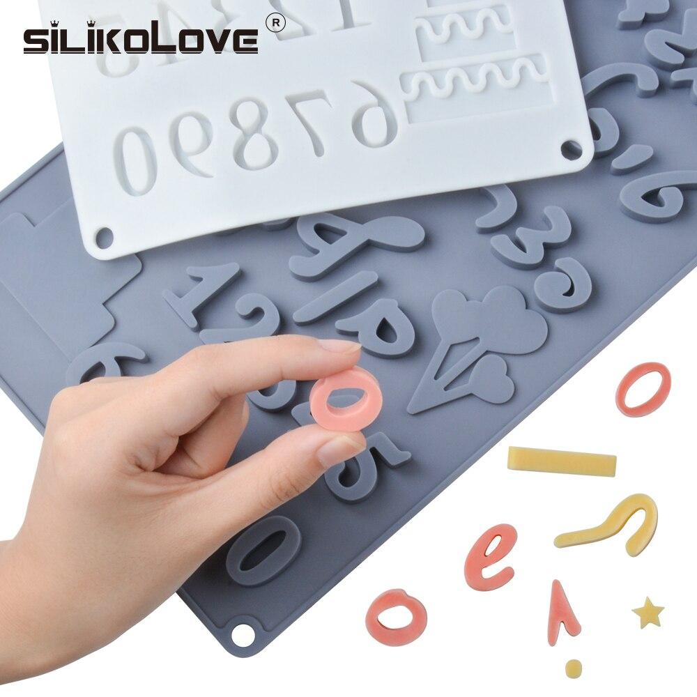 SILIKOLOVE İbranice harfler arapça numaraları DIY silikon çikolata kalıp pişirme kek dekorasyon araçları Bakeware kalıpları
