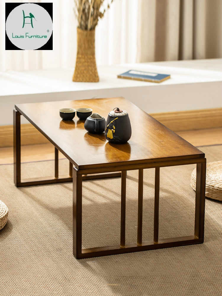 solid wooden antique small coffee table