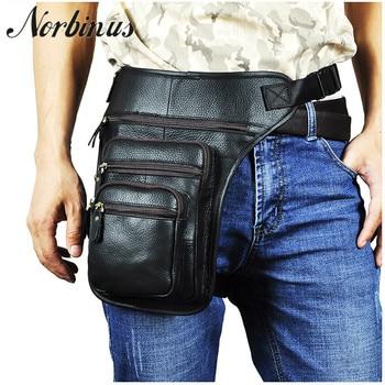 Multifunction Drop Leg Bag Men's Genuine Leather Waist Bags Motorcycle Shoulder Messenger Bag Thigh Pouch Hip Belt Fanny Pack фото