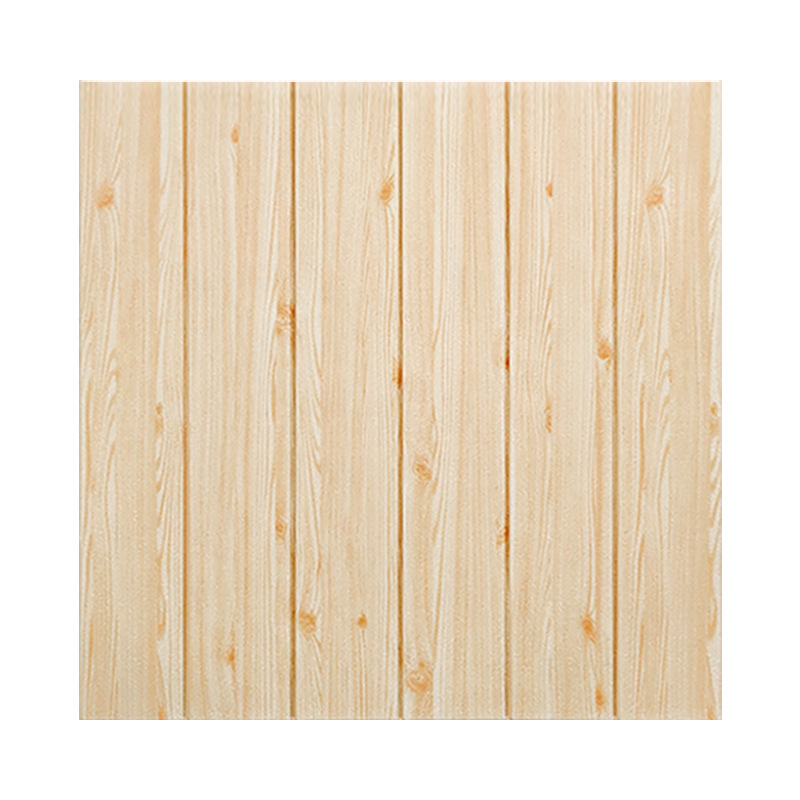 70cmx77cm Wood Grain Wall Stickers 3d Foam Wallpaper Self-adhesive Waterproof Wallpaper Anti-collision Simulation Board Stickers