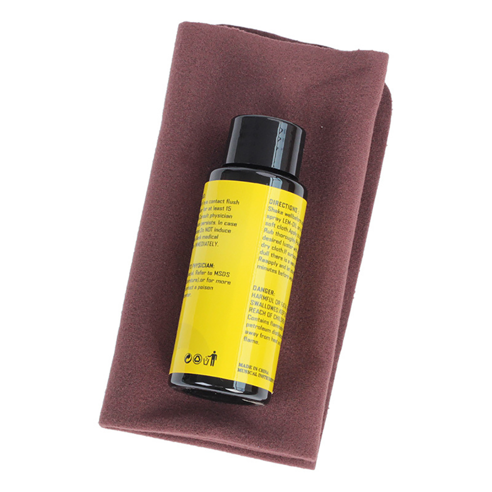 60ml Universal Nursing Effective Care Tool Cleaning Cloth Luster Restore Ukulele Guitar Fretboard Bass Lemon Oil Set Practical