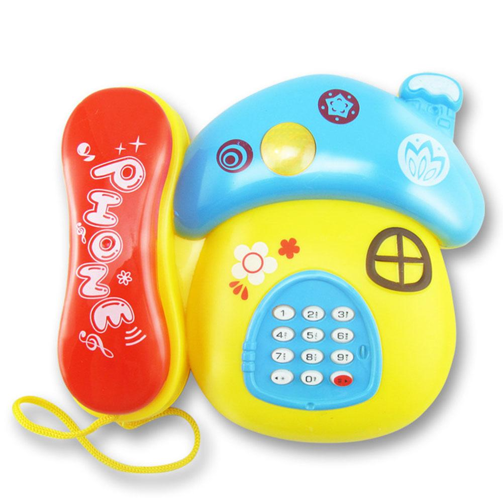 Simulated Phone Toys Funny Cartoon Music Pull Wire Phone Educational Development Toys For Kids Children Baby Birthday Gifts