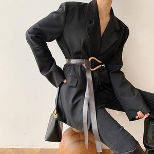 Image 2 - Ladies Metal Buckle Belt Luxury Casual Trendy Womens Clothing Accessories Belts for Dress&Blazer Cinturones Para Mujer