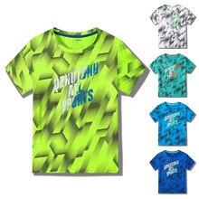 Quick Drying Boys Sport Run T-Shirt Short Sleeve Clothes Boys T Shirt New 2019 Summer Kids Tops Teen Children Clothing цена 2017