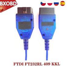 Para vag kkl 409 com chip ftdi ft232rl para vag 409 kkl interface usb obd2 cabo de diagnóstico para vag kkl scanner ferramenta