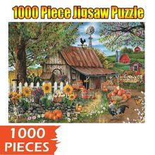 Grand Puzzle en bois pour enfants et adultes, cadeau de vacances, jouets intéressants, 2021 souvenirs, créatif, 1000 pièces