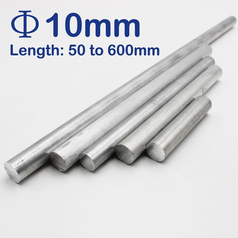 10mm Diameter Aluminum Round Bar/Rod Length 100mm To 600mm