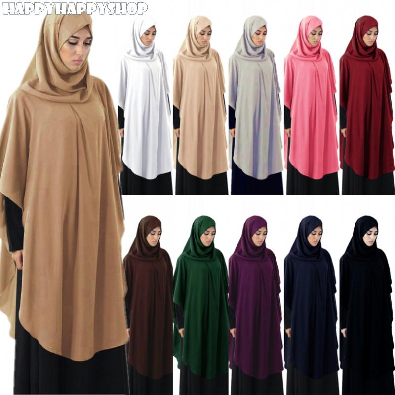Modest Hooded Abaya Women Muslim Islamic Ramadan Hijab Khimar One Pieces Amira Arab Overhead Prayer Niqab Burqa Long Tops Shirts