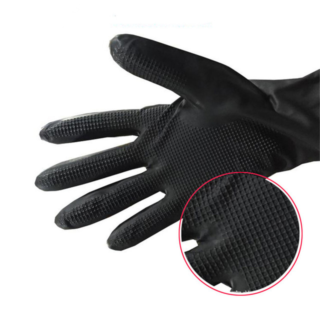 1 Pair Hair Thicker Rubber Gloves Hair Dyed Gloves Durable anti-slip Beauty Salons Hairdressing Hair Care Styling Tools Hot 3