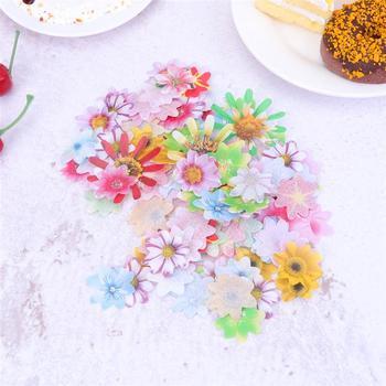 40 48 72 120 sztuk jadalny ryż papierowy kwiat s opłatek papierowy kwiat kolorowe Cupcake wykaszarki desery narzędzie do dekoracji ciast tanie i dobre opinie CN (pochodzenie) Tak ( 50 sztuk) Other Na imprezę Flower