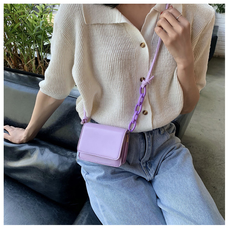 Five Colors Of SweetsRetro Mini Bags For 2020 Small Chain Handbag Small Bag PU Leather Hand Bag Ladies Shopping Bags (8)