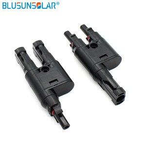Image 5 - Solare Panel1 coppia SOLARE PV T Ramo Connettori Splitter Accoppiatore MMF e FFM Filo Ramo