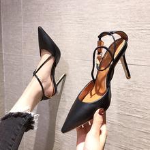 2021 nowe damskie czółenka buty damskie wysokie obcasy buty szpiczasty nosek modne sandały damskie buty na imprezę modne czółenka czarne tanie tanio BIGTREE podstawowe Szpilki CN (pochodzenie) Z niewielkim szpicem Super Wysokiej (8cm-up) Dobrze pasuje do rozmiaru wybierz swój normalny rozmiar