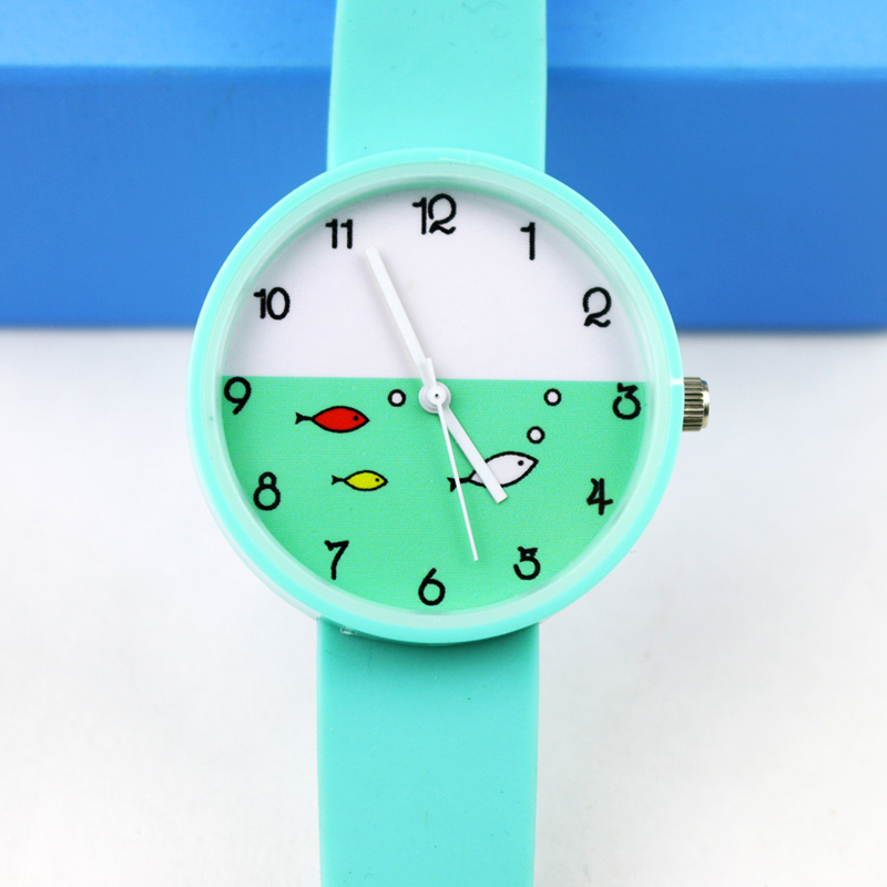 New Soft Silicone Child Watches Girls Fashion Quartz Wristwatch For Woman Clock Female Hours Relog Montre Femme