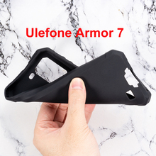 Ulefone Armor 7 Case Silicon Cover Soft TPU Matte Pudding Black Phone Protector Shell For Capa Coque 6.3 inch