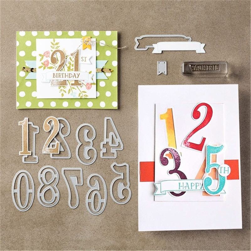 Number Of Years Metal Cutting Dies Stamp Stencil For DIY Scrapbooking Photo Album Embossing Decorative Craft Die