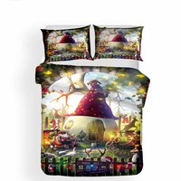 3D Print Bedding sets Duvet Cover Christmas Hallowmas Picture Four Seasons bed cover and two Pillowcase 3Pcs Queen King size