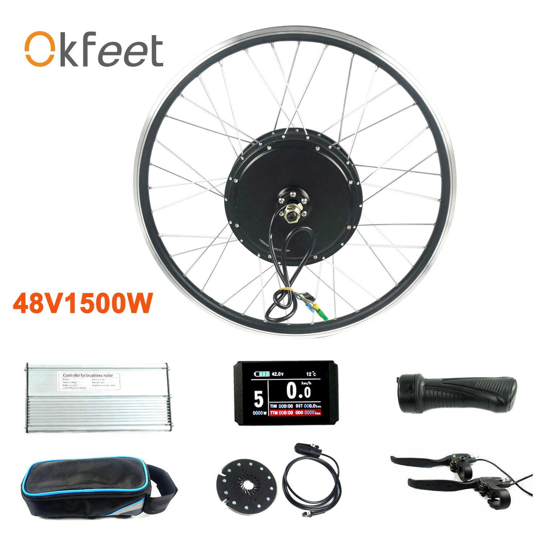 48V 1500W moyeu de roue arrière moteur 20 24 26 700c 28 pouces KT LCD3 LCD8H affichage vélo électrique vélo Ebike Kit de Conversion