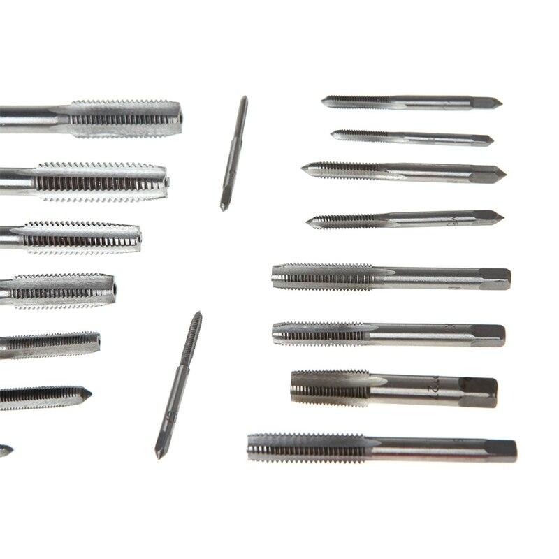 Tools : 40 Pcs Metric Tap Die Set Hand Threading Tool Tungsten Carbide Screw Thread Bit