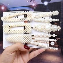 wholesale hair accessories hairpins headbands for women fashion pearl headband Hair Clips For Women Handmade flower clip